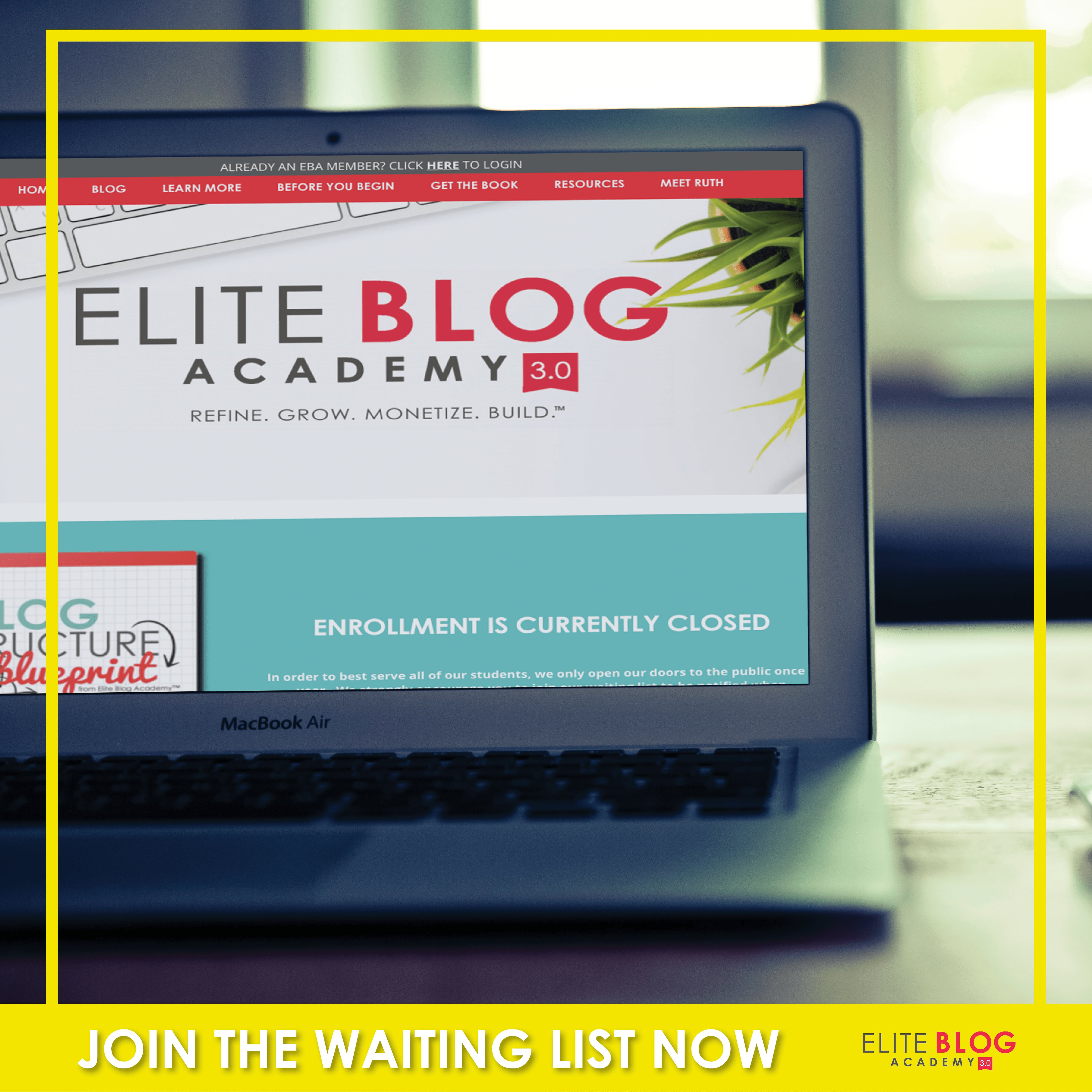 Elite Blog Academy Waiting List